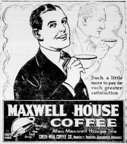 maxwell house coffee newspaper ad orig