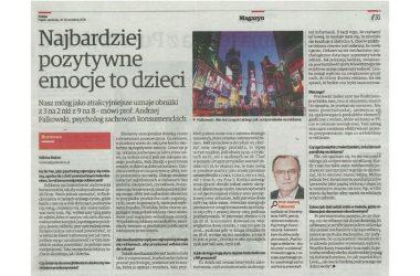 Prof. Andrzej Falkowski w Polska The Times